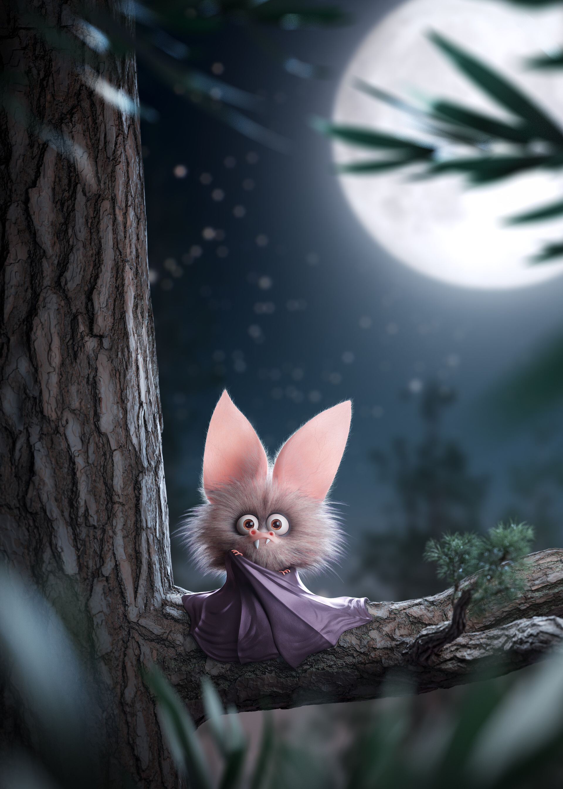 Nights gurdian cartoon 3d cg stylized animal