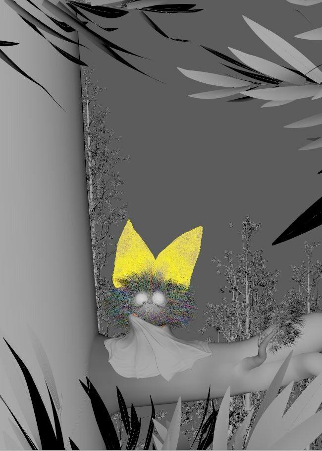Nights gurdian cartoon 3d cg stylized animal viewport