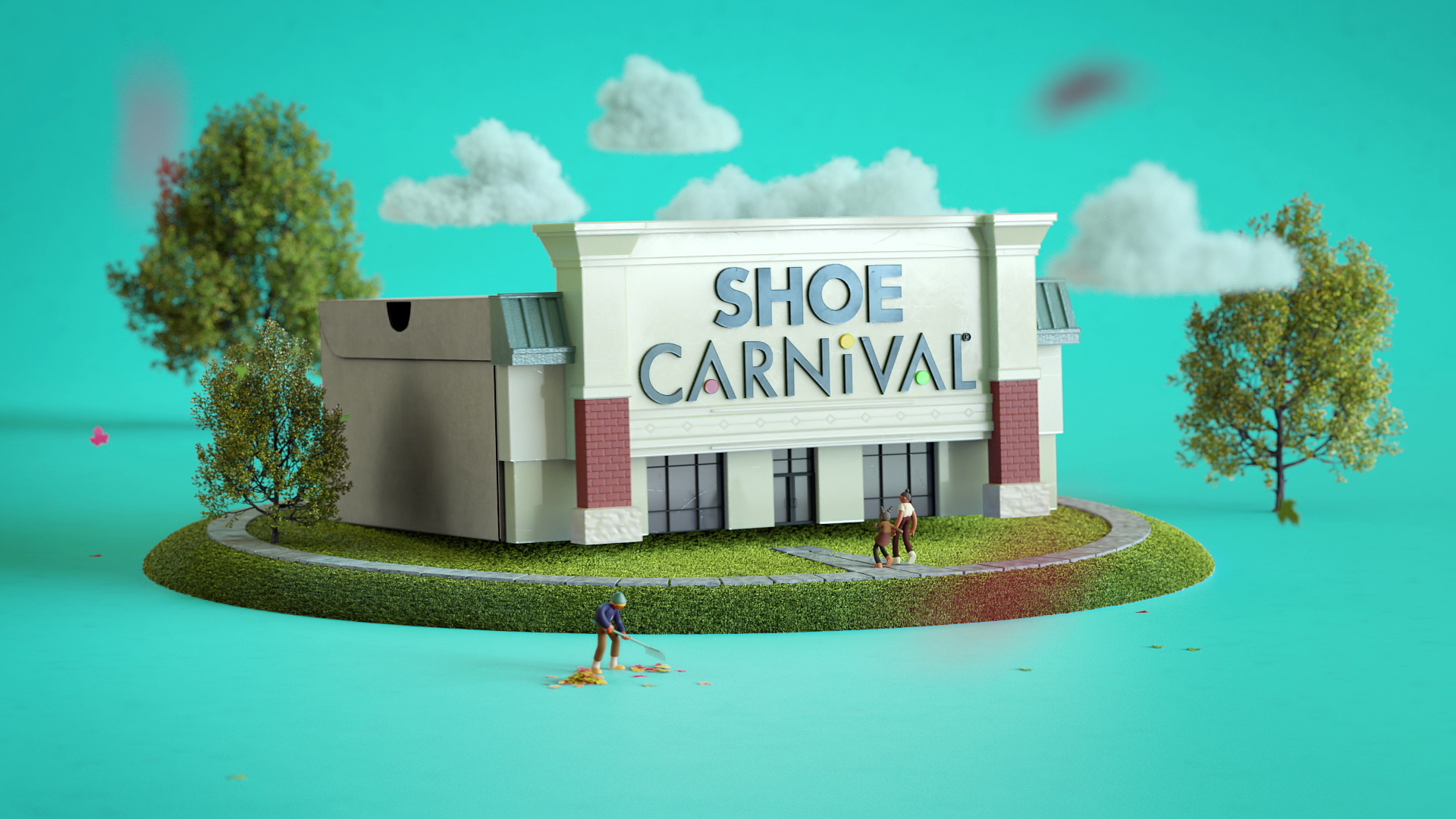 Cgi shoe environment animation 3d character stylized